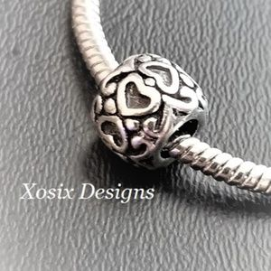 European Heart Deco Charm Bead